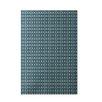 E By Design Decorative Geometric Off White/Teal Area Rug