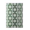 E By Design Decorative Geometric Green Area Rug