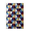E By Design Decorative Geometric Beige/Blue Area Rug