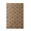 E By Design Decorative Brown/Ivory Area Rug