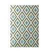 E By Design Decorative Geometric Green/Aqua Area Rug