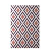 E By Design Decorative Geometric Purple/Coral Area Rug