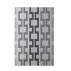 E By Design Decorative Geometric Light Gray/Dark Gray Area Rug