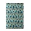 E By Design Decorative Geometric Green/Teal Area Rug