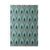 E By Design Decorative Green/Teal Area Rug