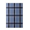 E By Design Decorative Plaid Light Blue/Navy Blue Area Rug