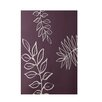 E By Design Decorative Floral Purple/Ivory Area Rug