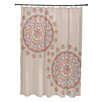 E By Design Coastal Calm Geometric Shower Curtain
