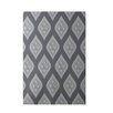 E By Design Decorative Floral Dark Gray/Gray Area Rug
