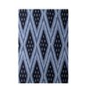 E By Design Decorative Geometric Blue/Navy Blue Area Rug