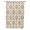 E By Design Subline Geometric Shower Curtain