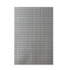 E By Design Decorative Geometric Off White/Gray Area Rug