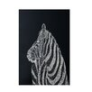E By Design Decorative Animal Print Black Area Rug