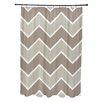 E By Design Stripe a Balance Chevron Shower Curtain