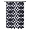 E By Design Subline Geometric Shower Curtain