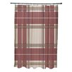 E By Design Animal Magnatism Plaid Shower Curtain