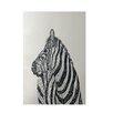 E By Design Decorative Animal Print Off White/Black Area Rug