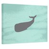E By Design Coastal Graphic Art On Wrapped Canvas in Aqua