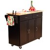 TMS Berkley Kitchen Island with Wood Top I