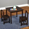 TMS Hayden Kids 3 Piece Square Table and Chairs Set