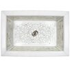 <strong>Floral Mother of Pearl Inlay Drop In Bathroom Sink</strong> by Linkasink
