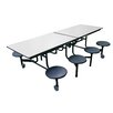 AmTab Manufacturing Corporation Mobile 8 Stool Table
