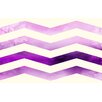 Thumbprintz Ombre Chevron Purple/White Area Rug