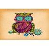 <strong>Owl Branch Gregir Multi Rug</strong> by Thumbprintz