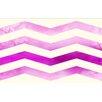 Thumbprintz Ombre Chevron Pink/White Area Rug