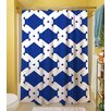 Thumbprintz Modern Geometric Sapphire Shower Curtain