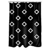 Thumbprintz Band Shower Curtain