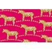 Thumbprintz Zebra Pink Area Rug