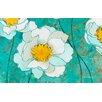 Thumbprintz Flower Field Green/White Area Rug