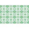 Thumbprintz Modern Geometric Mint Rug