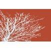 Thumbprintz Coastal Coral Red Rug