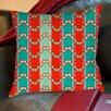 Thumbprintz Stripe Mint Printed Pillow