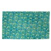 Thumbprintz Aqua Bloom Dots Area Rug