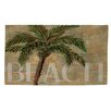 Thumbprintz Beach Palm Green/Sand Rug
