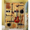 Thumbprintz Guitar Collage Cream Polyester Shower Curtain