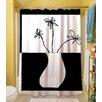 Thumbprintz Minimalist Flower in Vase 4 Polyester Shower Curtain