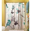 Thumbprintz Flowing Florals Polyester Shower Curtain
