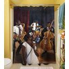 Thumbprintz Jazz Affair Polyester Shower Curtain