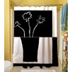 Thumbprintz Minimalist Flower in Vase 2 Polyester Shower Curtain