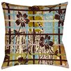Thumbprintz Floral Study in Plaid Indoor/Outdoor Pillow