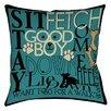 Thumbprintz Dog Commands Printed Pillow