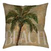 Thumbprintz Beach Palm Printed Pillow