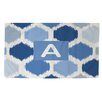 Thumbprintz Batik Monogram Blue Area Rug