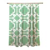 Thumbprintz Modern Geometric Mint Shower Curtain