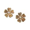 <strong>Lolita Jewelry</strong> Flower Crystal Stud Earrings
