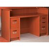 Stevens ID Systems Library Computer Desk with Double Pedestal and Patron Ledge